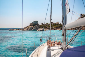 segling i skärgården La Maddalena